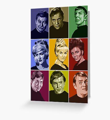 Star Trek TOS Crew (stylized) Greeting Card