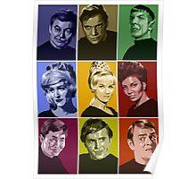Star Trek TOS Crew (stylized) Poster