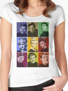Star Trek TOS Crew (stylized) Women's Fitted Scoop T-Shirt