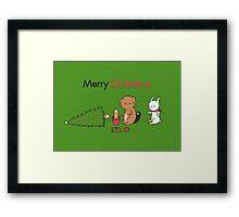 Beavers ruin Christmas Framed Print