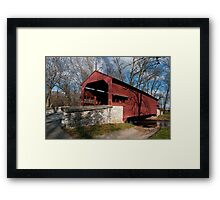Shearer Covered Bridge Framed Print