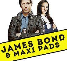 James Bond & Maxi Pads by fitzsimmonns