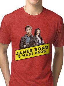 James Bond & Maxi Pads Tri-blend T-Shirt