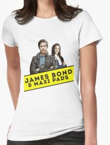 James Bond & Maxi Pads Womens Fitted T-Shirt