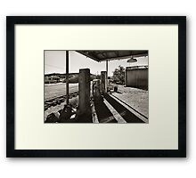 Where to buy cheap gas Framed Print