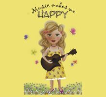 Music makes me HAPPY Kids Tee