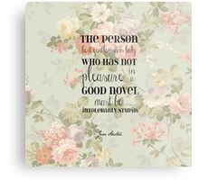 Pleasure of a Good Novel - Jane Austen Metal Print