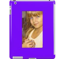 """""""Tay with Her Precious Hamster Angel""""  iPad Case/Skin"""