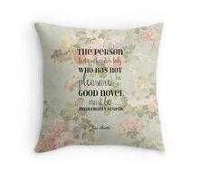 Pleasure of a Good Novel - Jane Austen Throw Pillow