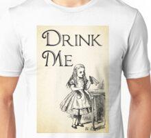 Alice in Wonderland Quote - DRINK ME - Lewis Carroll Qote - 0195 Unisex T-Shirt