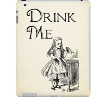 Alice in Wonderland Quote - DRINK ME - Lewis Carroll Qote - 0195 iPad Case/Skin