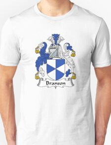 Coat of arms (family crest) for last-name or surname Branson . Heraldry banner for your name. T-Shirt