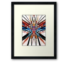 Mirror Image Abstract Framed Print