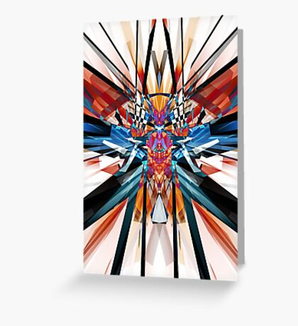 Mirror Image Abstract Greeting Card