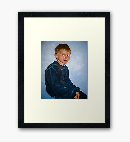Noa on his own Framed Print