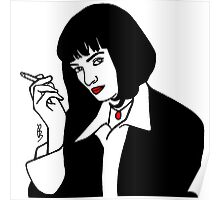 Mia Wallace Pulp Fiction Poster