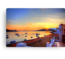 Halki Sunrise Canvas Print