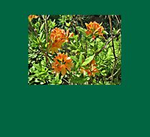 Orange Rhododendrons In the Sunshine Womens Fitted T-Shirt