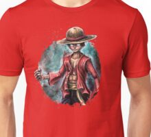 The King of Pirates a Tra-Digital Portrait of Luffy Unisex T-Shirt