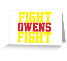 Fight Owens Fight (Yellow/Red) Greeting Card