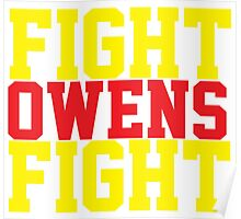Fight Owens Fight (Yellow/Red) Poster