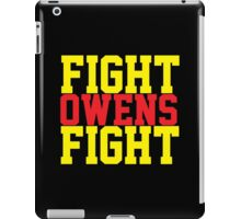 Fight Owens Fight (Yellow/Red) iPad Case/Skin