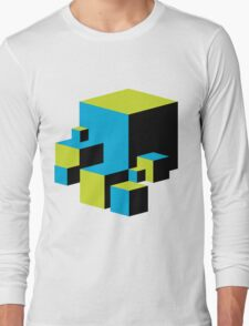 Geometric Blocks Long Sleeve T-Shirt
