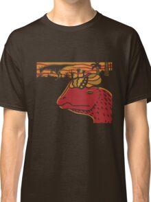 Dilophosaurus Duo - Orange and Red Classic T-Shirt