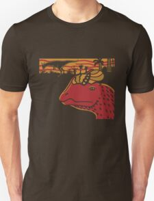 Dilophosaurus Duo - Orange and Red T-Shirt