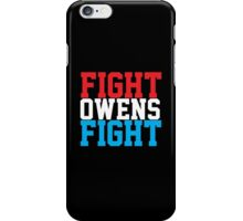 Fight Owens Fight (Blue/White/Red) iPhone Case/Skin