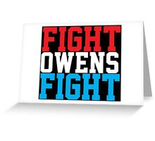 Fight Owens Fight (Blue/White/Red) Greeting Card