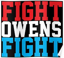 Fight Owens Fight (Blue/White/Red) Poster