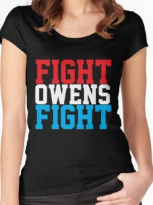 Fight Owens Fight (Blue/White/Red) Women's Fitted Scoop T-Shirt