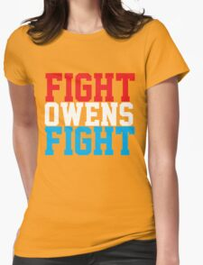 Fight Owens Fight (Blue/White/Red) Womens Fitted T-Shirt