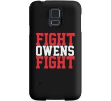 Fight Owens Fight (Red/White) Samsung Galaxy Case/Skin