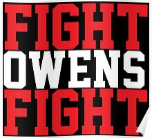 Fight Owens Fight (Red/White) Poster