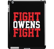 Fight Owens Fight (Red/White) iPad Case/Skin