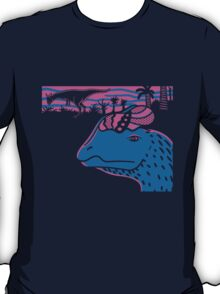 Dilophosaurus Duo - Magenta and Blue T-Shirt