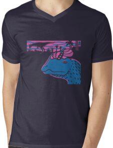 Dilophosaurus Duo - Magenta and Blue Mens V-Neck T-Shirt