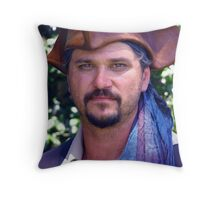 Spring Arts Festival Pirate Throw Pillow