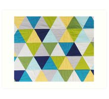 Triangle quilt Art Print