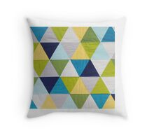 Triangle quilt Throw Pillow