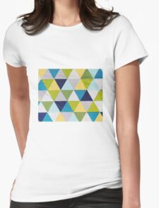 Triangle quilt Womens Fitted T-Shirt