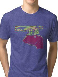 Dilophosaurus Duo - Green and Purple Tri-blend T-Shirt
