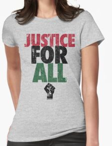 JUSTICE FOR ALL: BLACK LIVES MATTER Womens Fitted T-Shirt
