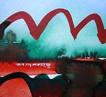 Red Landscape by Hekla Hekla