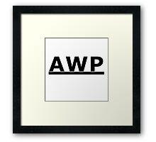 Counter-Strike AWP (vTwo) Framed Print