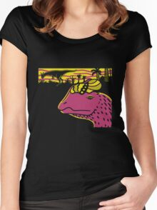 Dilophosaurus Duo - Yellow and Pink Women's Fitted Scoop T-Shirt