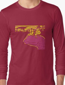 Dilophosaurus Duo - Yellow and Pink Long Sleeve T-Shirt