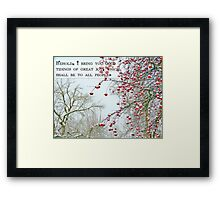 Good Tidings of Great Joy (Card) Framed Print